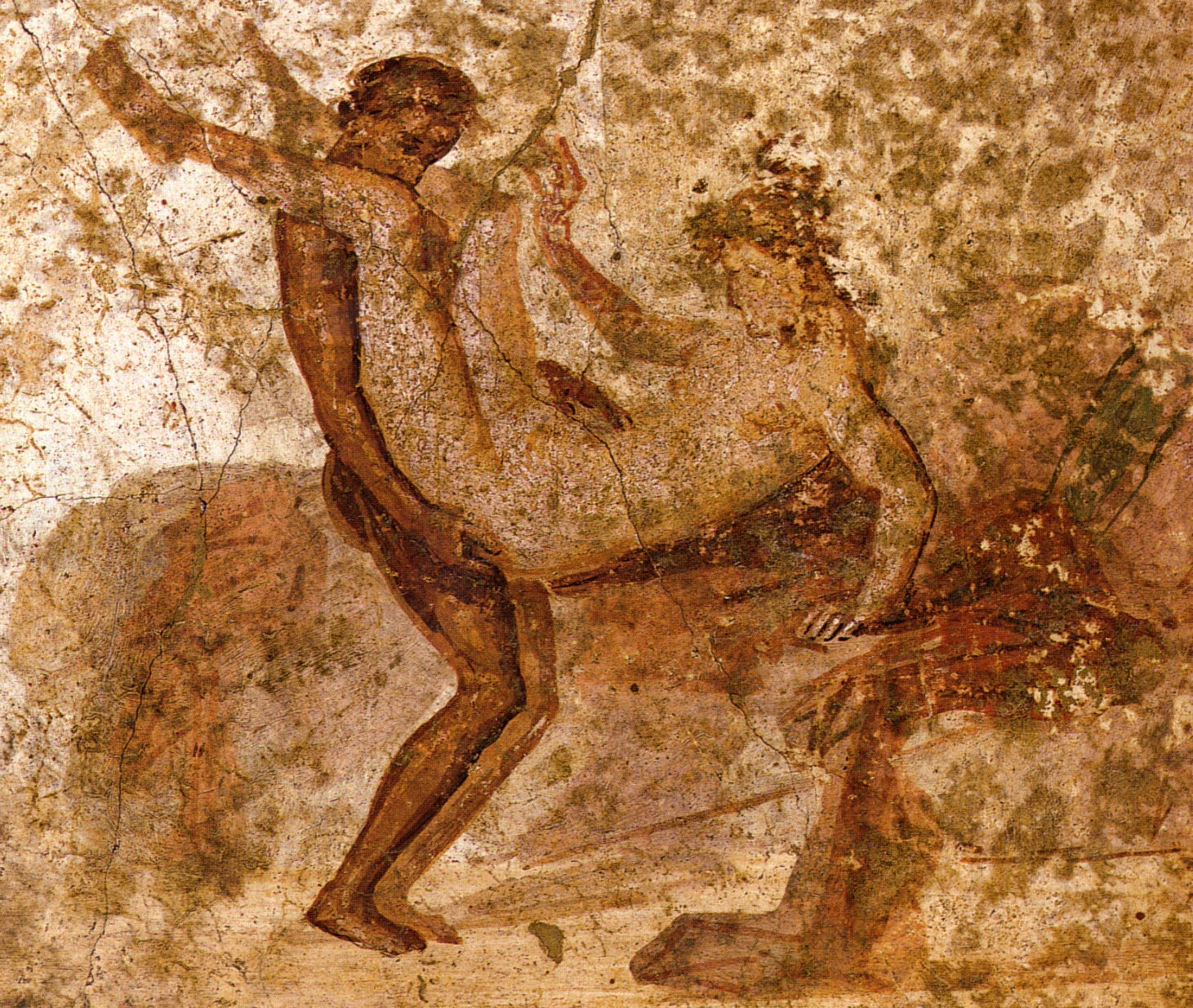 Sesso a tre nel lupanare degli scavi di Pompei: arrestati.