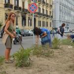 Ridiamo vita all'aiuola del mare: ecco come i cittadini napoletani dimostrano l'amore per la propria città (FOTO)