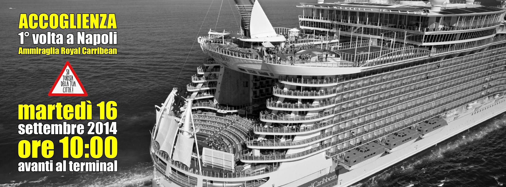 """Martedì la nave più grande del mondo a Napoli: """"fiori per tutti i passeggeri"""""""