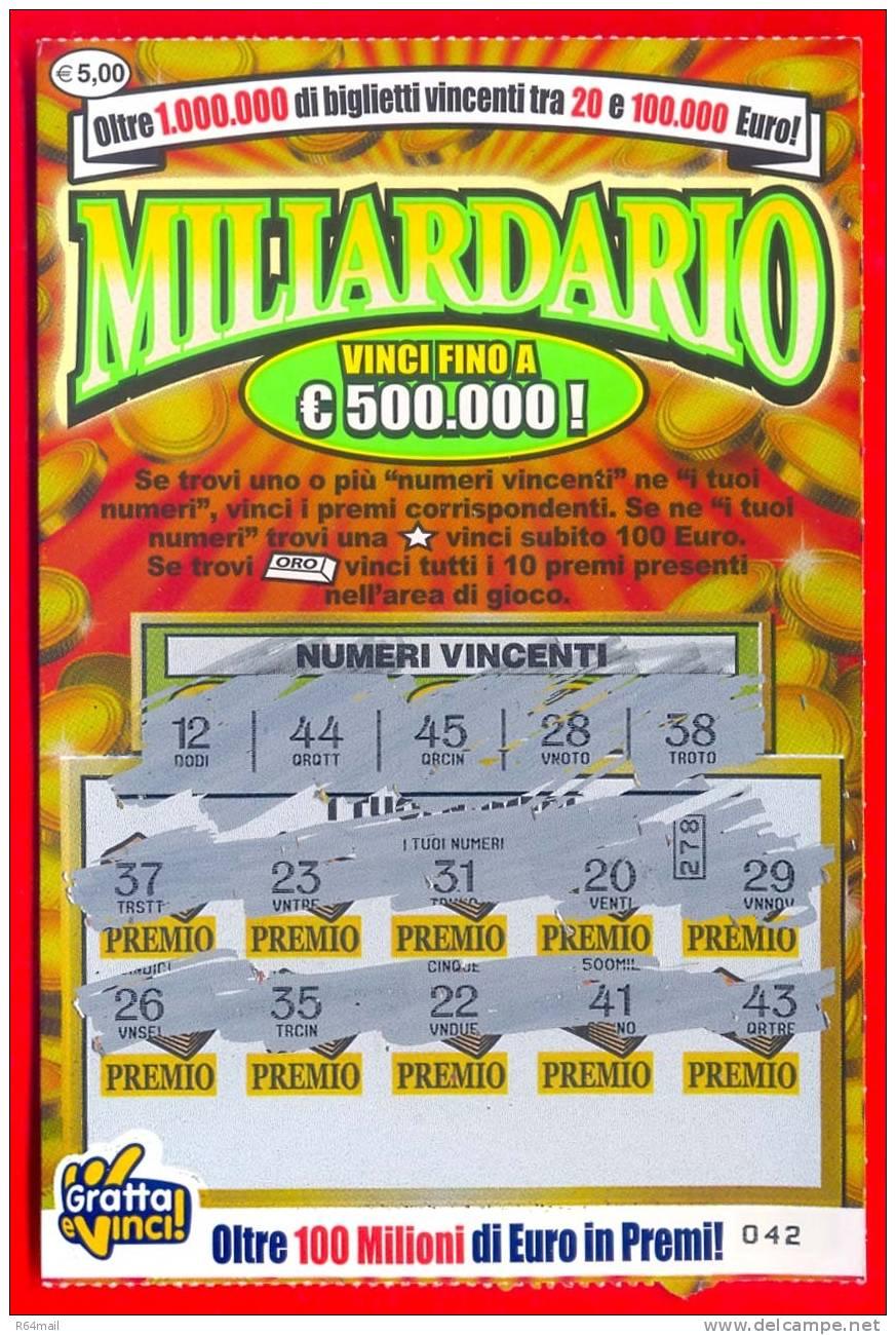 Finge di vincere 8000 euro al Gratta e vinci