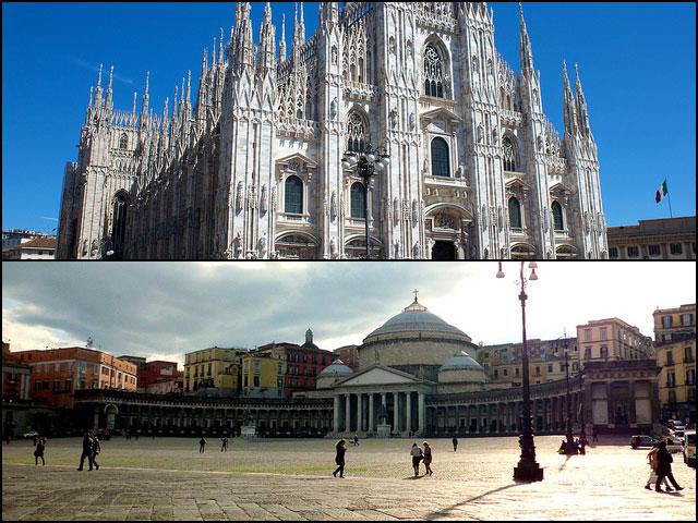 Napoli vs Milano: il Comune di Milano spende il doppio per ogni abitante rispetto a quello di Napoli