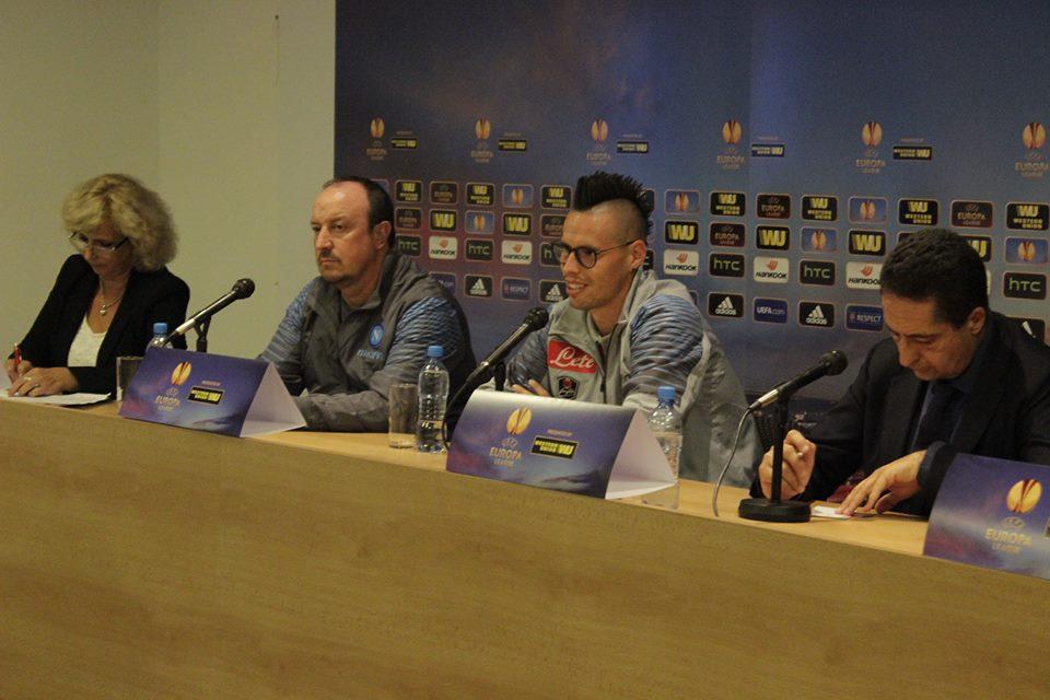 """Hamsik e Benitez per Slovan - Napoli: """"Una partita speciale, i cambi servono per vincere"""""""