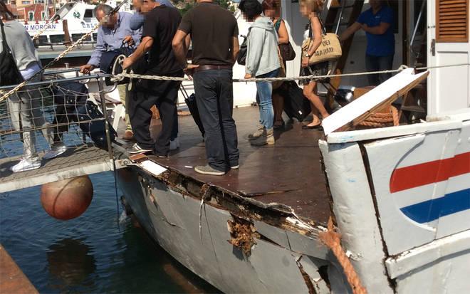 Motonave urta contro la banchina a Ischia