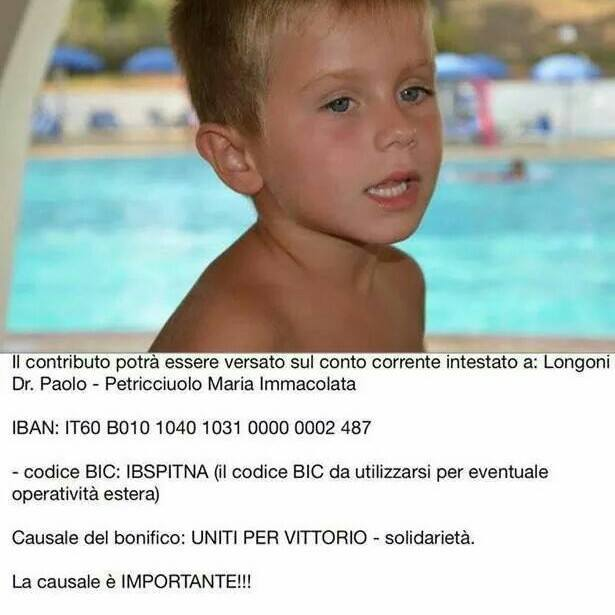 Uniti per Vittorio, gara di solidarietà