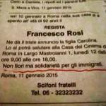 """Morte di Francesco Rosi: """"Nessun fiore ma solidarietà per gli immigrati"""""""