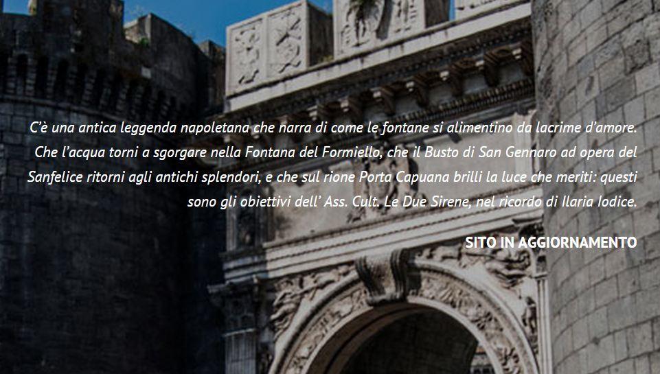 le due sirene - restauro della fontana del formiello e dell'edicola di san gennaro