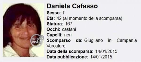 scomparsa Daniela Cafasso Chi l'ha visto