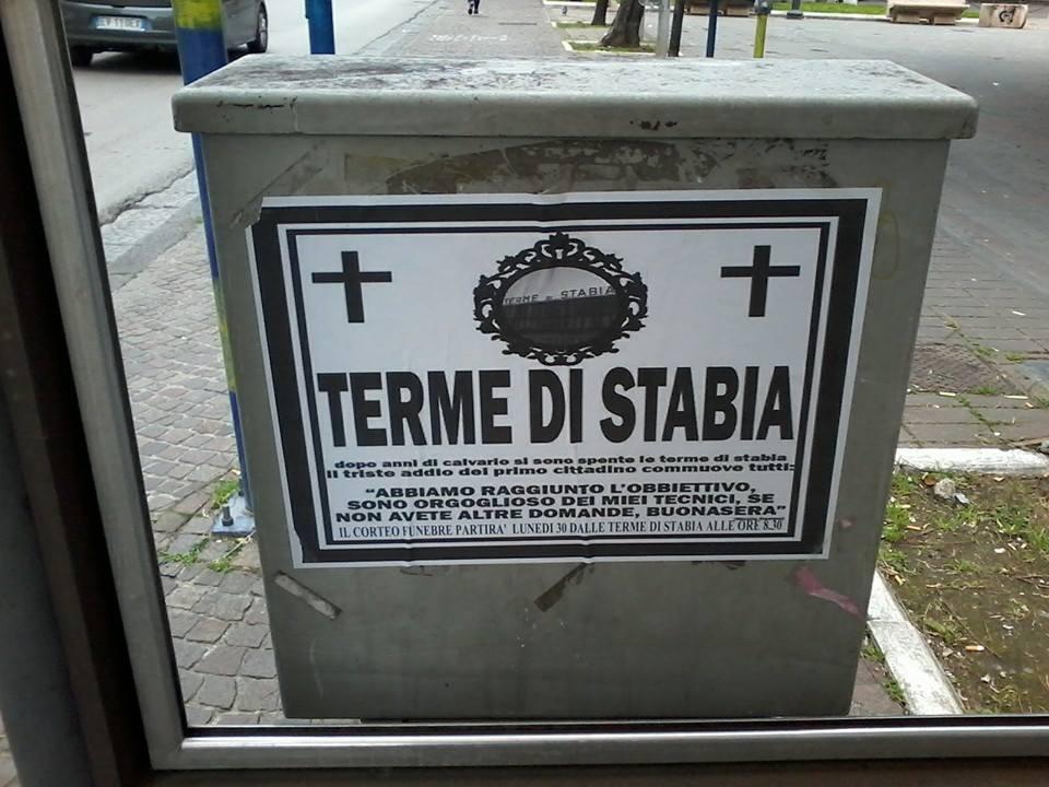 Terme di Stabia: città bloccata per il fallimento