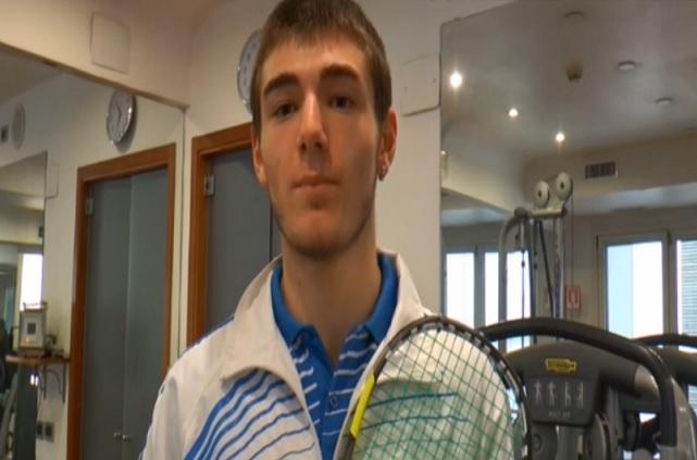 Luigi Sbandi, il campioncino napoletano di squash vola a Praga con la nazionale