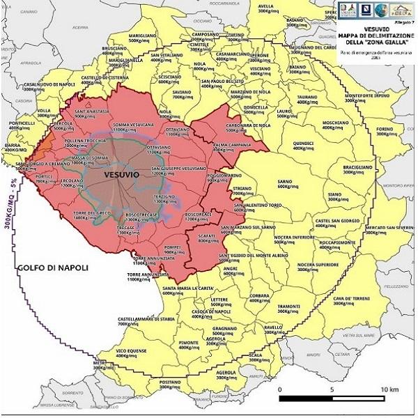 Mappa rischi del Vesuvio, la nuova pubblicazione dell'INGV