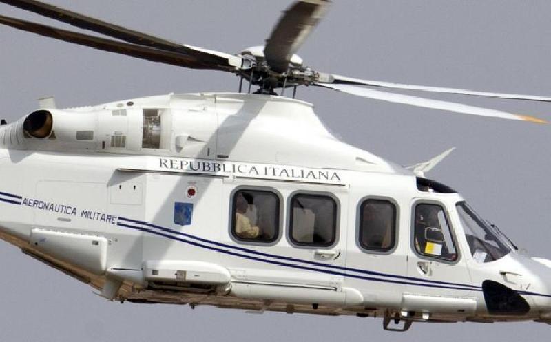 Atterrato Elicottero di Papa Bergoglio a Pompei
