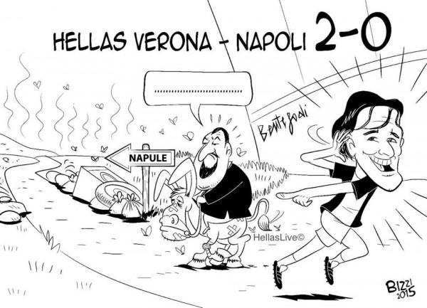 La vignetta antinapoletana fatta dal tifo veronese ci dimostra ancora una volta di quanto sia basso il livello del tifo italiano, razzista e discriminatorio