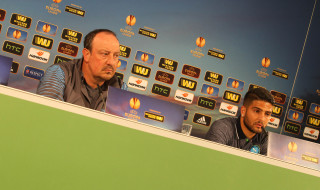 Conferenza stampa Wolfsburg Napoli