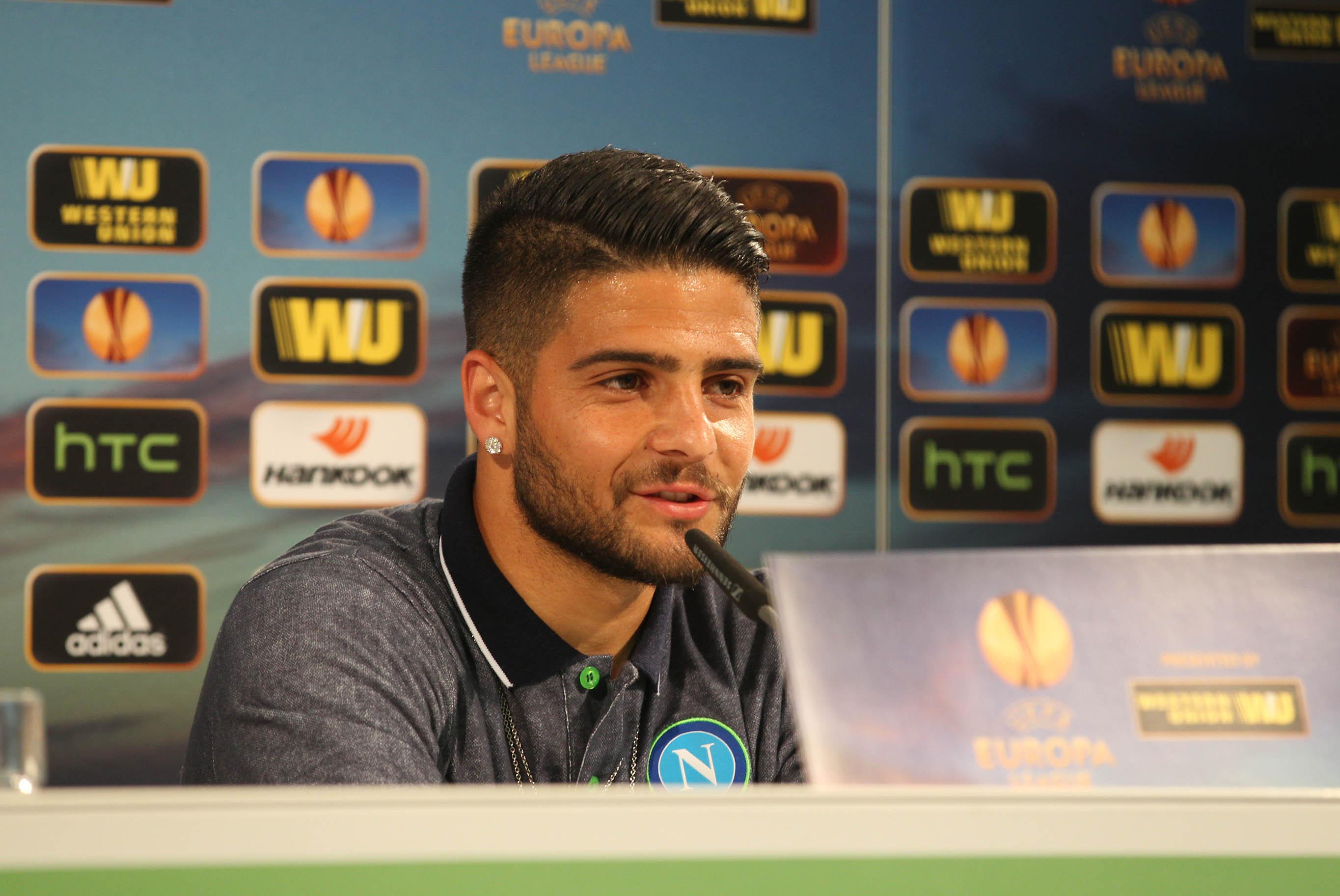 Conferenza stampa Wolfsburg Napoli Benitez Insigne
