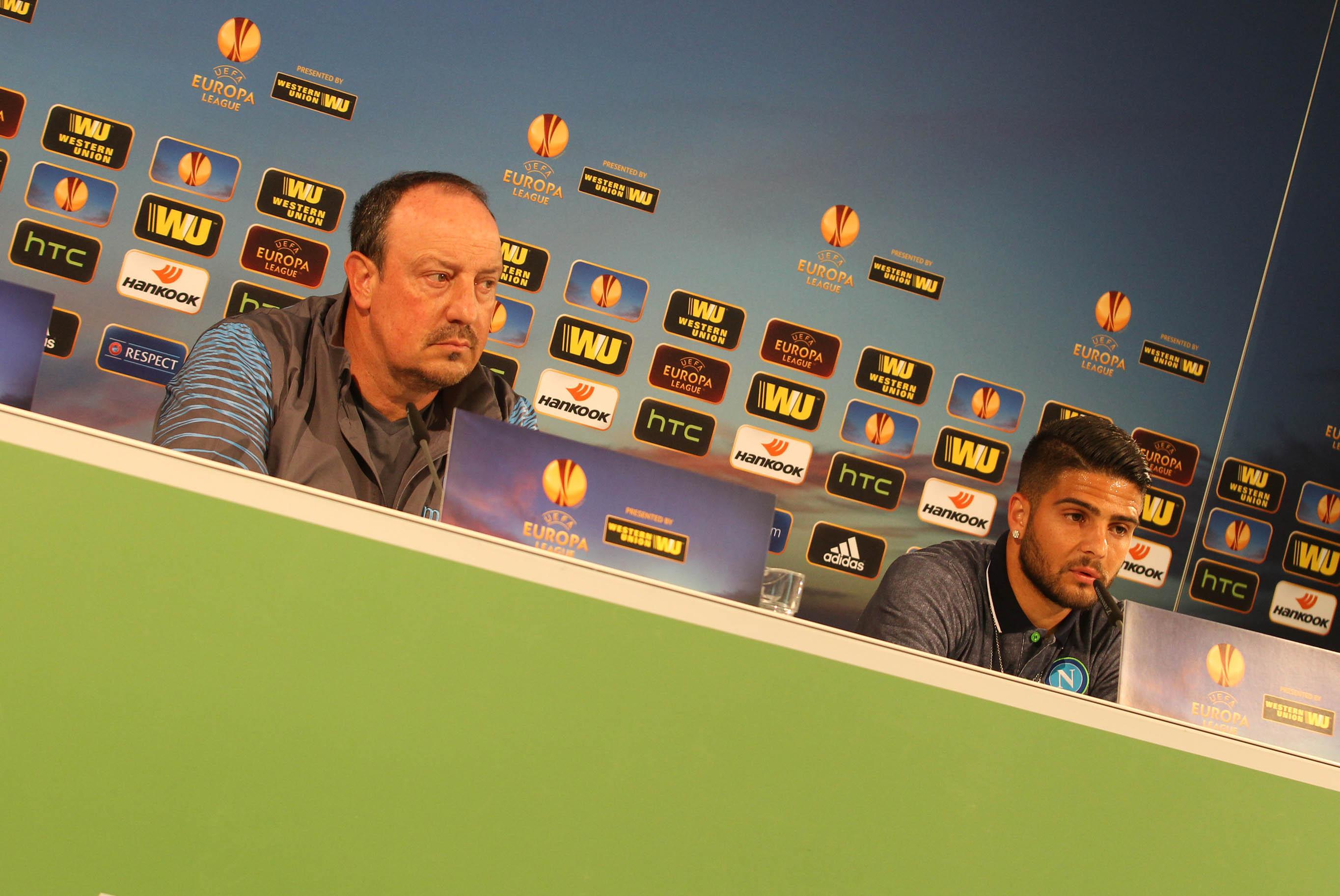 Conferenza stampa di Wolfsburg Napoli: le dichiarazioni di Benitez, Hecking e Insigne (Video e Foto Allenamento)