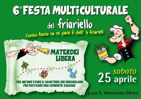 A Napoli la Festa del Friariello. Il Giardino Liberato di Materdei organizza la 6° Festa multiculturale del Friariello con un programma ricco di eventi
