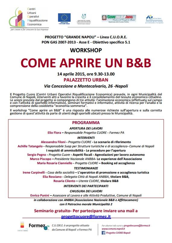 Come aprire un B&B, seminario gratuito a Napoli