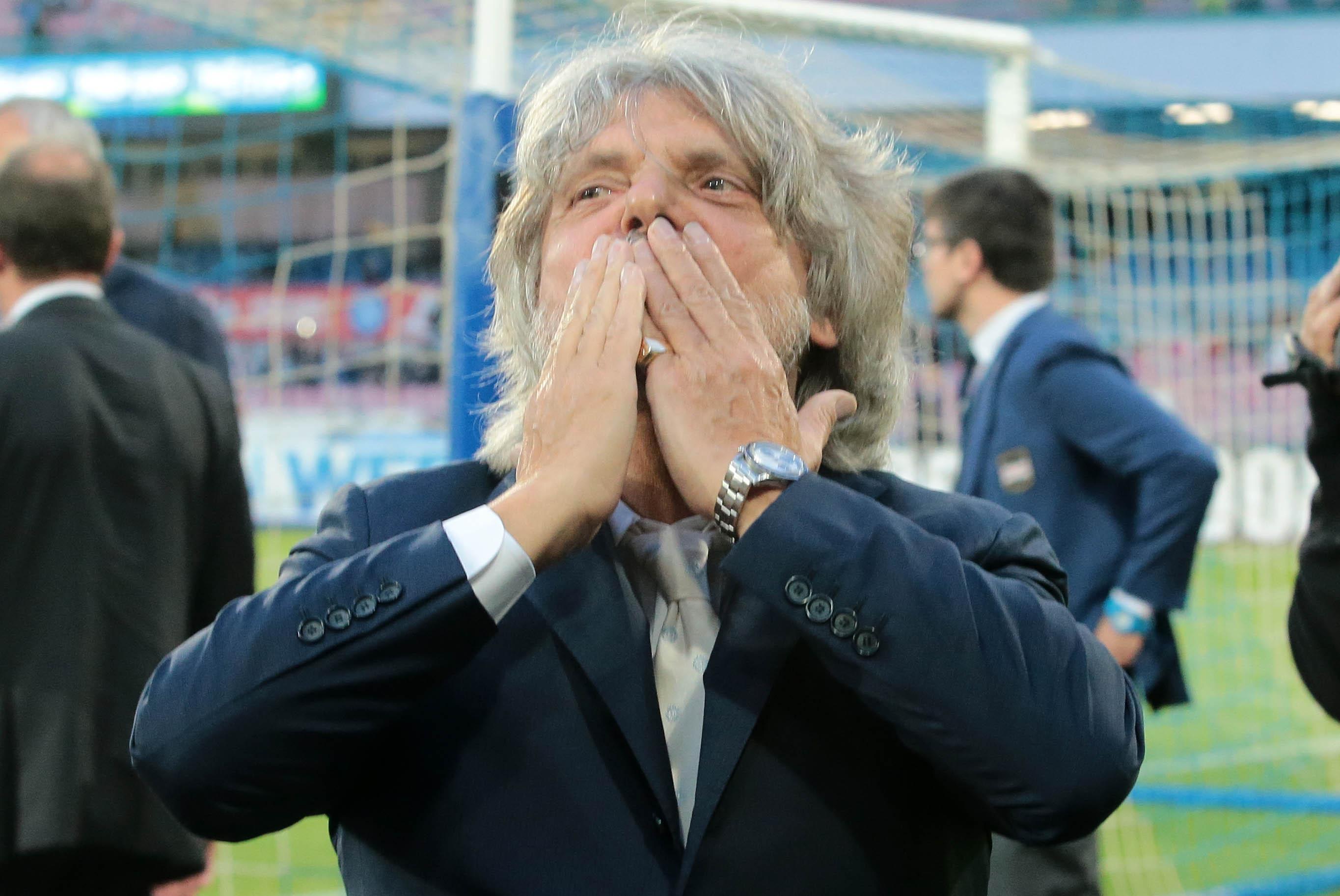 Napoli Sampdoria Ferrero