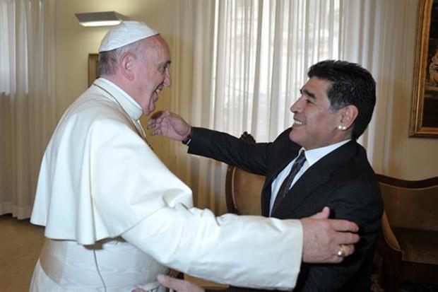 Diego Armando Maradona incontra Papa Francesco