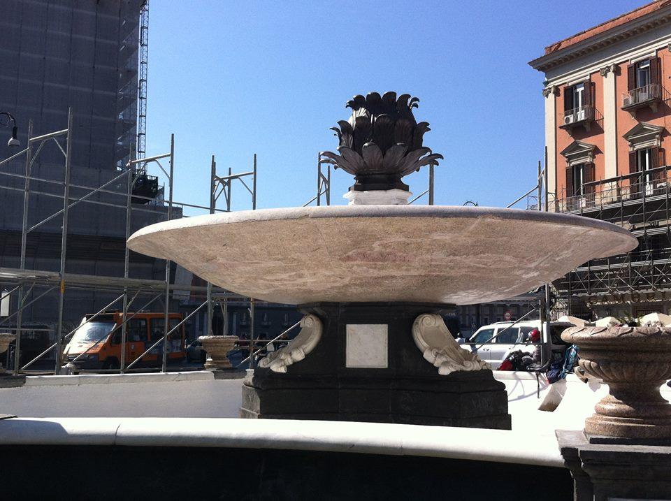 Fontana del Carciofo: torna l'acqua, venerdì riapertura ufficiale
