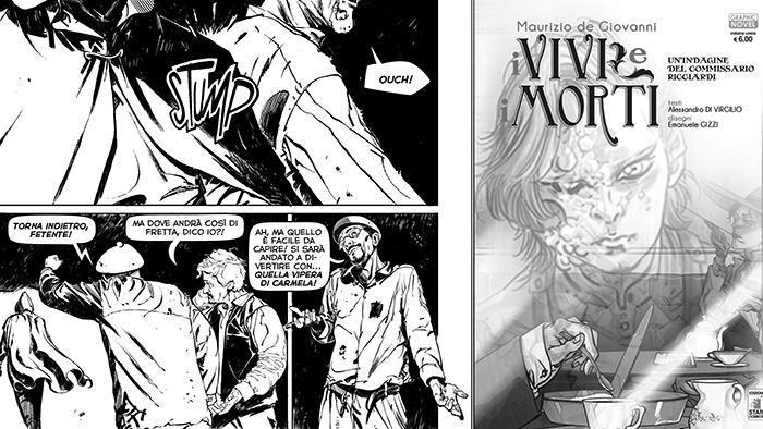 i vivi e i morti in una graphic novel