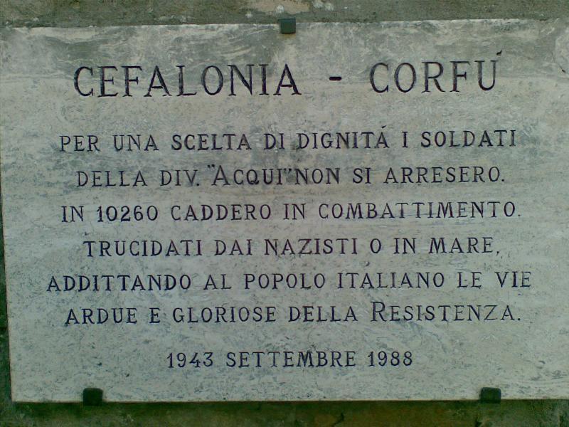 Napoli: una strada o una piazza per i Martiri di Cefalonia