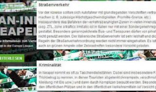 """Napoli-Wolfsburg: """"Tifosi, attenti ai borseggiatori"""""""