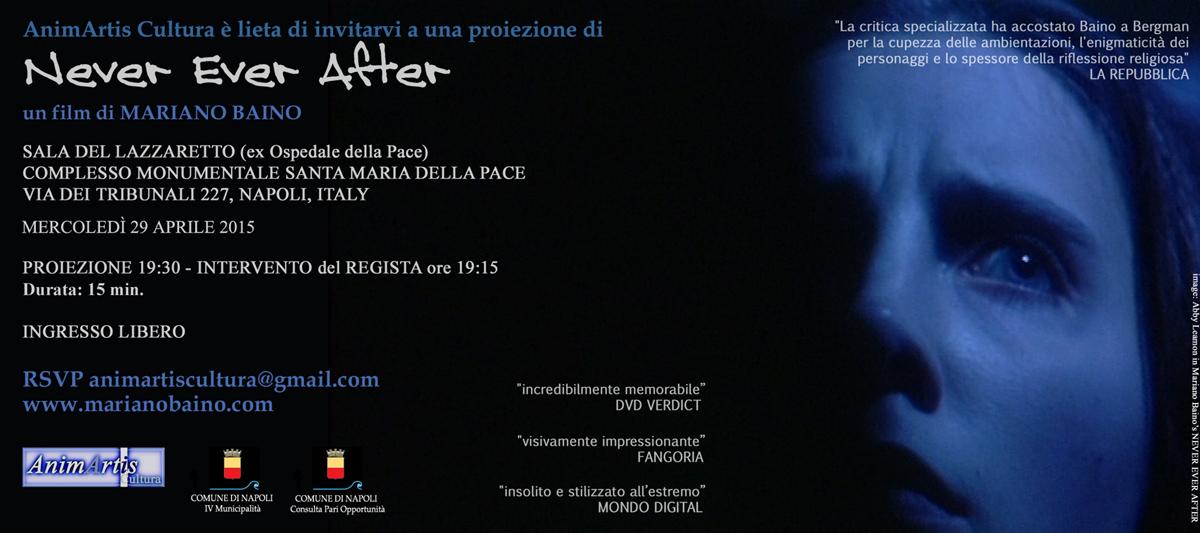Never Ever After: il film di Mariano Baino proiettato domani per la prima volta a Napoli
