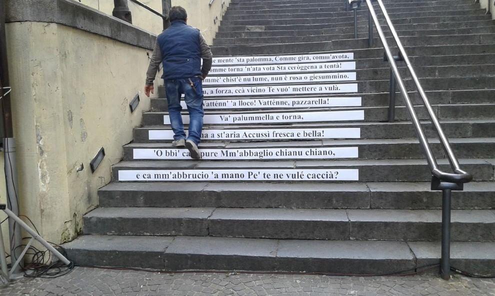 Salvatore Di Giacomo: i suoi versi sulla scalinata di piazza Fuga, Vomero