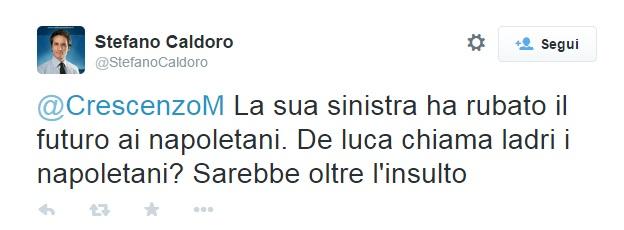 """Stefano Caldoro risponde a De Luca: """"Ha rubato il futuro ai napoletani"""""""