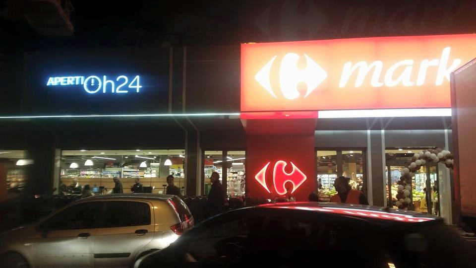 Carrefour aperto 24h: a Napoli il primo supermercato aperto 24h su 24