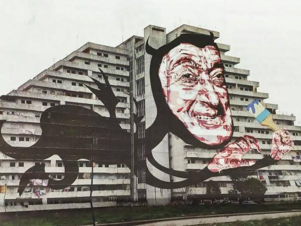 Street art a Scampia: arriva Totò-Diabolik