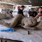 Restaurati i calchi delle vittime di Pompei
