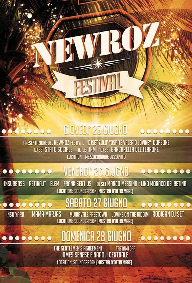 Newroz Festival, prima edizione: dal 25 al 28 giugno alla Mostra d'Oltremare, Napoli