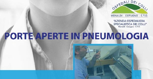 Porte aperte in pneumologia al Monaldi, da giugno a dicembre