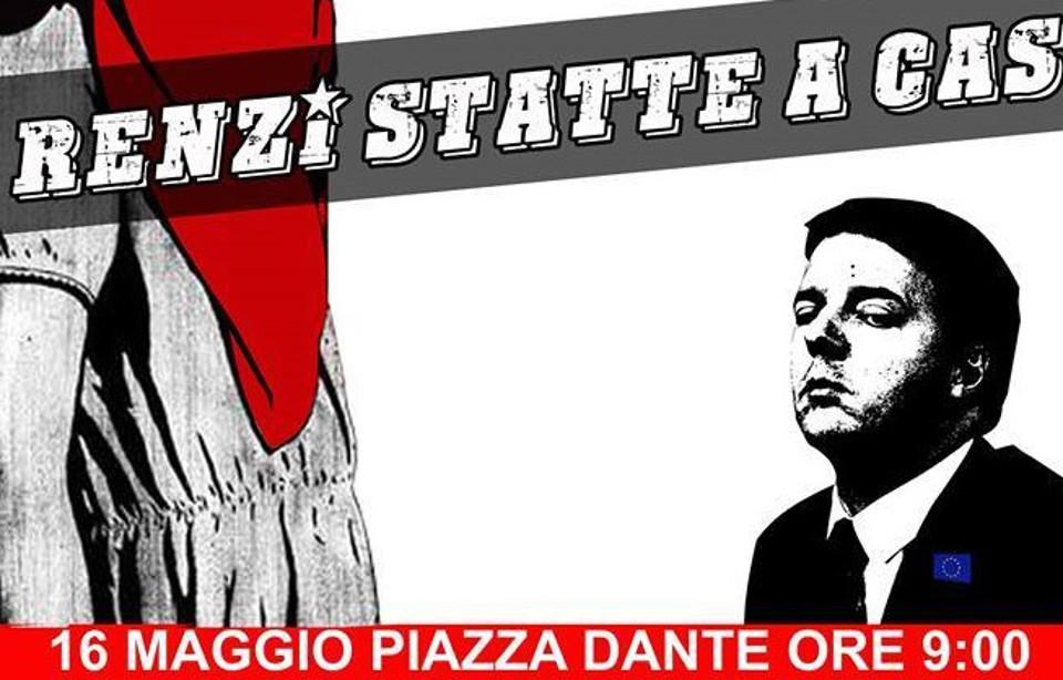 Renzi a Napoli sabato 16 maggio e gli attivisti rispondo con