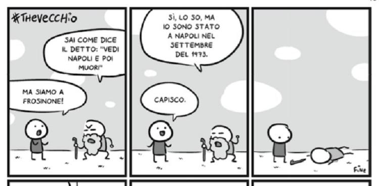 Scottecs: Napoli colera nei fumetti del fenomeno Sio