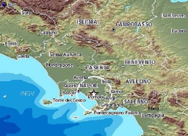 Terremoto sul Vesuvio: registrata una scossa di 2,4 gradi