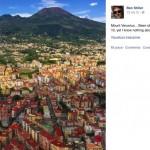 """Ben Stiller a Napoli: """"Ecco il Vesuvio... Ne sono ossessionato da quando avevo dieci anni"""""""