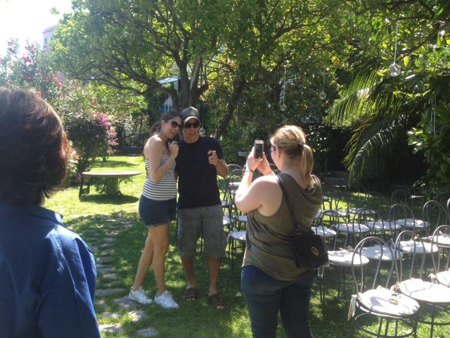 Ben Stiller con una fan ad Amalfi