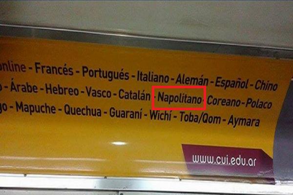 La lingua napoletana in Argentina: inserita come materia di studio la lingua