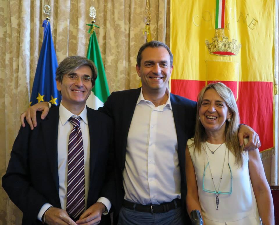 Raffaele Del Giudice e Caterina Pace presentati da de Magistris