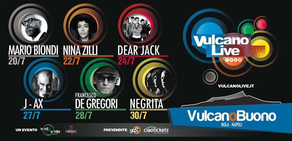 Vulcano Live: tutti i concerti del mese di luglio al Vulcano Buona di Nola
