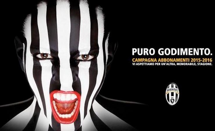 Locandina campagna abbonamenti Juve: bianconeri accusati di plagio