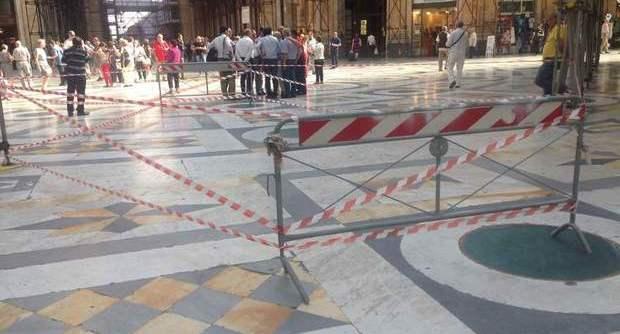 Crollo nella Galleria Umberto