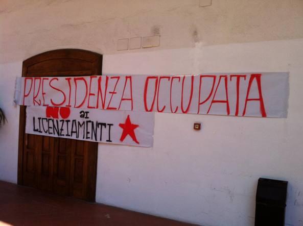 Lettere e filosofia occupata, protesta contro i licenziamenti