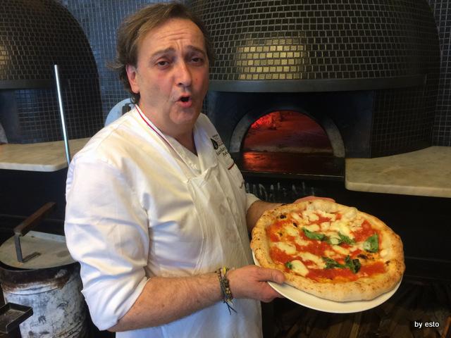 Pizza con l'acqua di mare