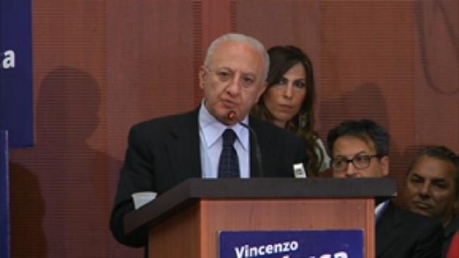 Vincenzo De Luca, le prime parole da governatore: