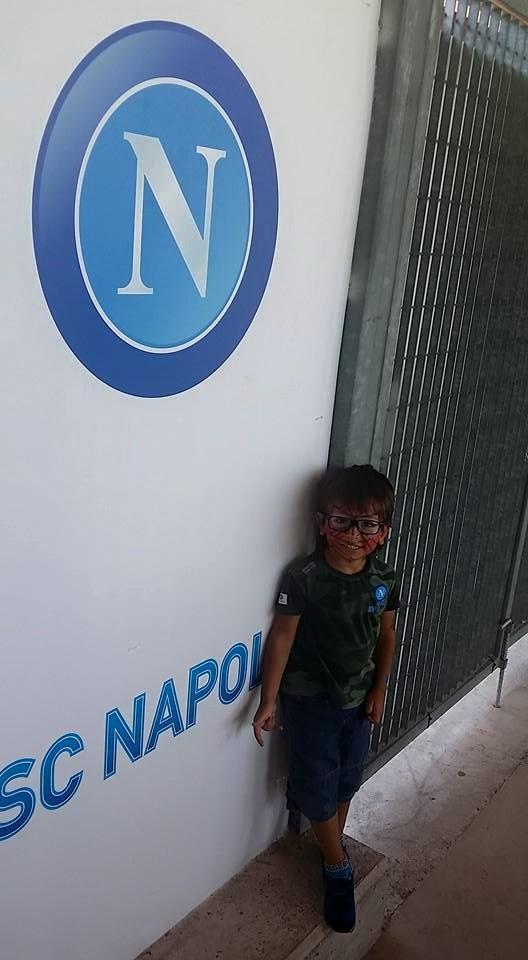 Piccolo tifoso del Napoli a Dimaro