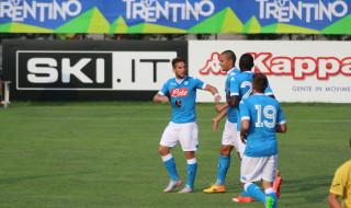 Mertens Festeggiamenti Napoli partita Dimaro Anaune